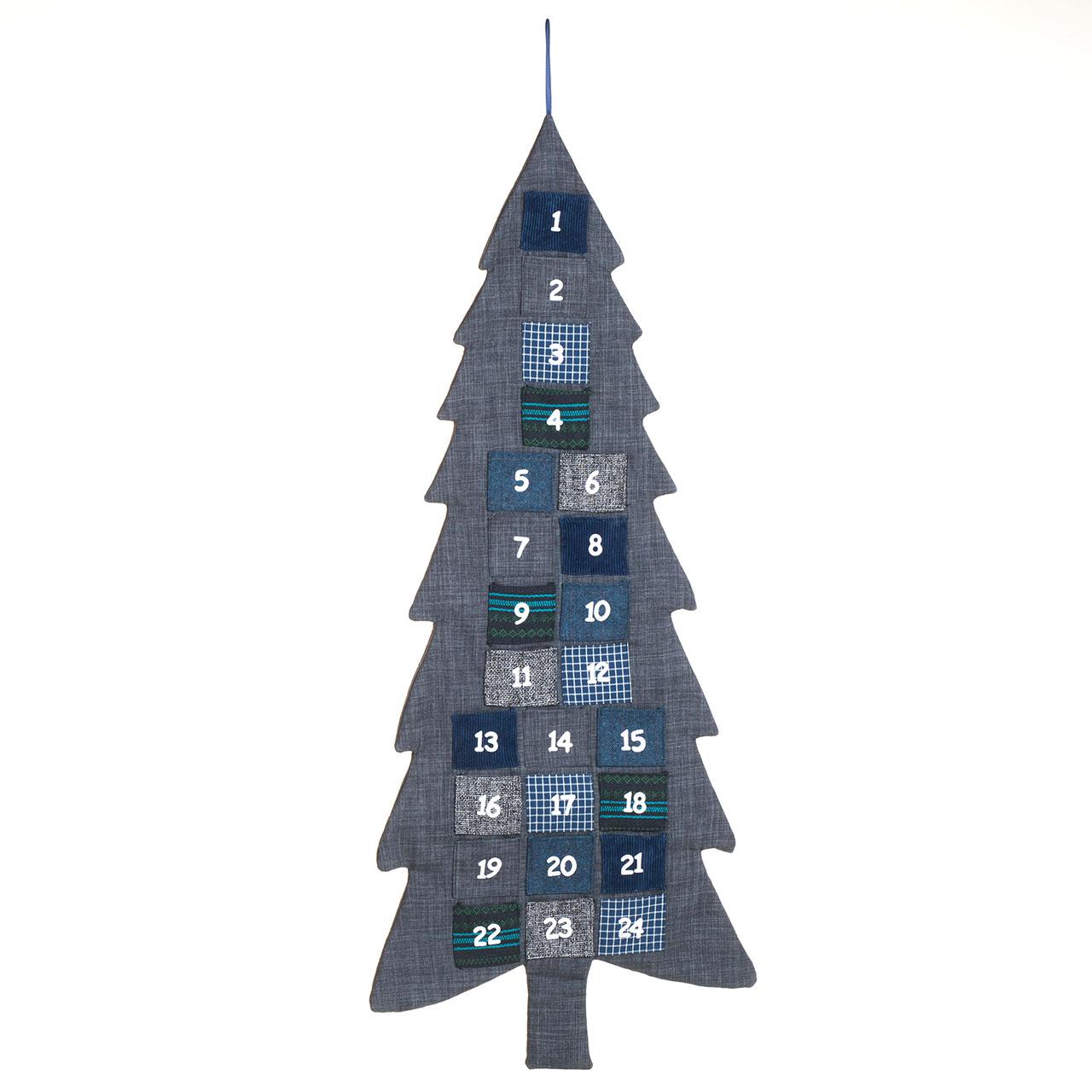 adventskalender weihnachtsbaum zum selbst bef llen aus stoff ebay. Black Bedroom Furniture Sets. Home Design Ideas